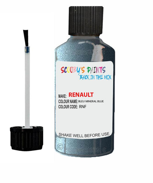 Renault Scratch Repair Car Touch Up Paint Bleu Mineral Blue
