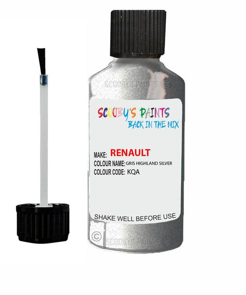 Renault Scratch Repair Car Touch Up Paint Gris Highland Silver