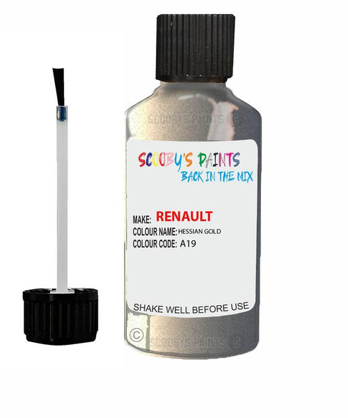 renault megane hessian gold code a19 touch up paint 2001 2010 Scratch Stone Chip Repair