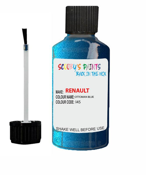 renault megane ottoman blue code i45 touch up paint 2003 2006 Scratch Stone Chip Repair