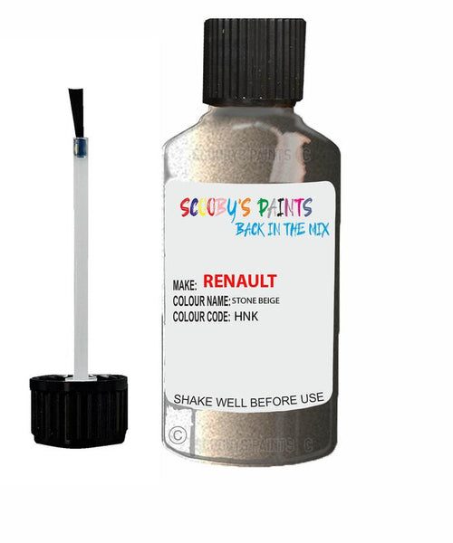 Renault Scratch Repair Car Touch Up Paint Stone Beige