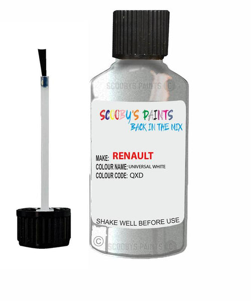 Renault Scratch Repair Car Touch Up Paint Universal White