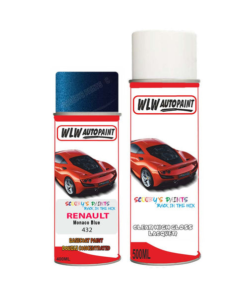 Renault Avantime Monaco Blue 432 Aerosol Spray Paint Rattle Can