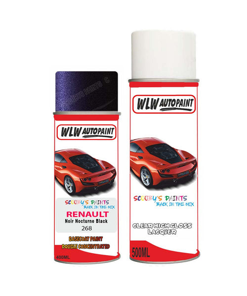 Renault Avantime Noir Nocturne Black 268 Aerosol Spray Paint Can