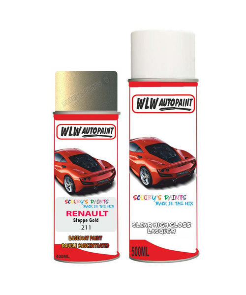 Renault Avantime Steppe Gold 211 Aerosol Spray Paint Rattle Can