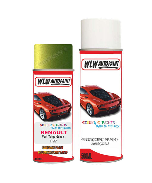 Renault Avantime Vert Taiga Green H97 Aerosol Spray Paint Rattle Can