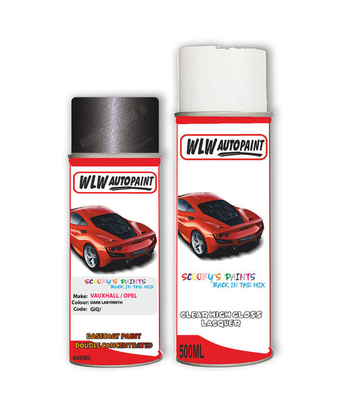 Vauxhall Gt Dark Labyrinth Aerosol Spray Car Paint + Lacquer Giq