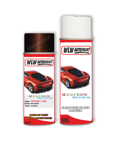 Vauxhall Astra Coupe Macadamia Aerosol Spray Car Paint + Clear Lacquer 41C/85T/Gop