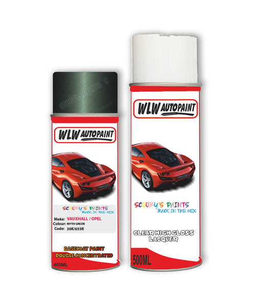Vauxhall Astra Convertible Myth Green Aerosol Spray Car Paint + Clear Lacquer 30K/655R/85R