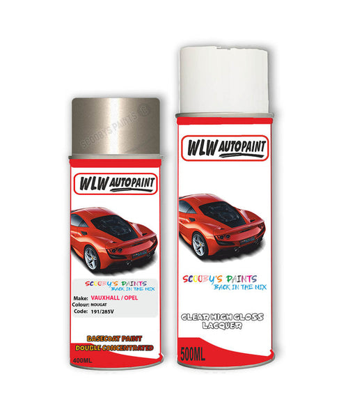 Vauxhall Cascada Nougat Aerosol Spray Car Paint + Clear Lacquer 191/285V/G5N