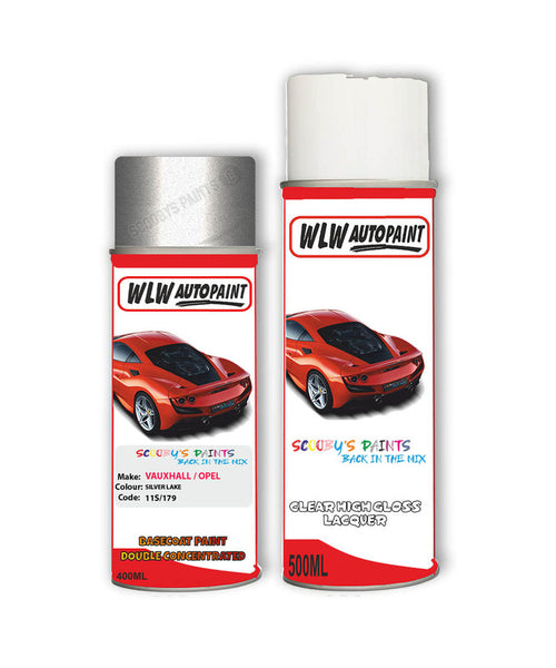 Vauxhall Corsa Opc Silver Lake Aerosol Spray Car Paint + Clear Lacquer 11S/179/Gev
