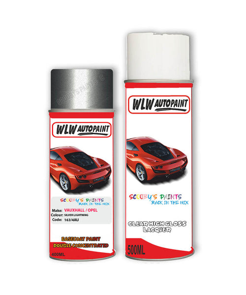Vauxhall Astra Cabrio Silver Lightning Aerosol Spray Car Paint + Clear Lacquer 163/4Au/Gbj