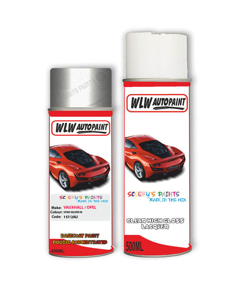 Vauxhall Astra Coupe Star Silver Iii Aerosol Spray Car Paint + Clear Lacquer 157/2Au/82U