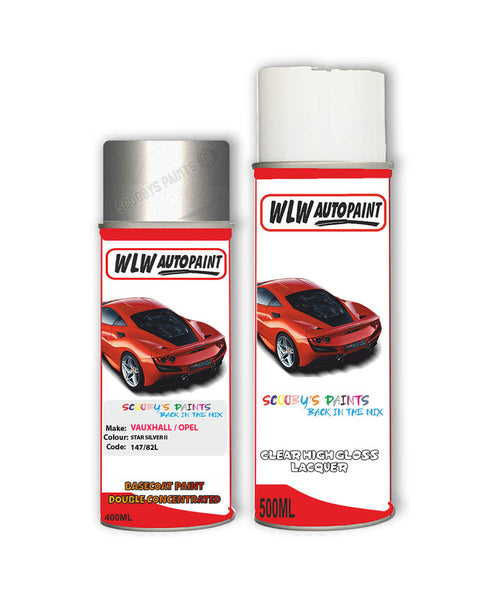 Vauxhall Astra Coupe Star Silver Ii Aerosol Spray Car Paint + Clear Lacquer 147/82L/82U