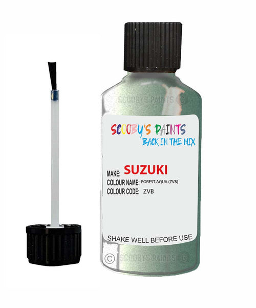 Suzuki Spacia Forest Aqua Code Zvb Touch Up paint