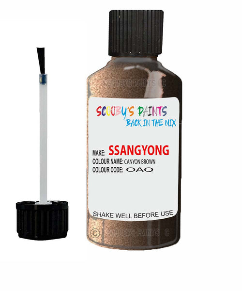 Ssangyong Actyon Sports Canyon Brown Oaq Touch Up Paint
