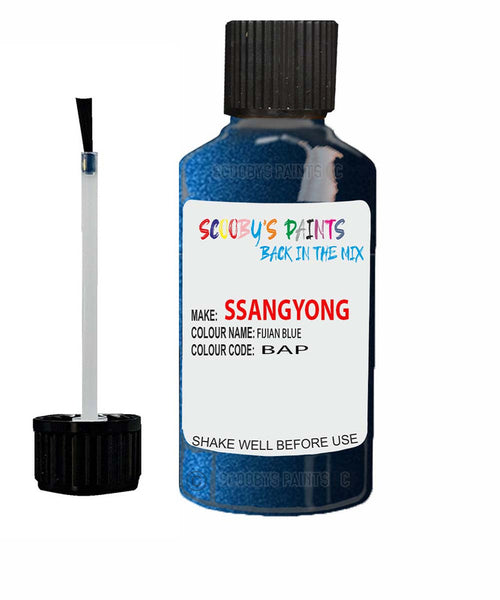 Ssangyong Actyon Sports Fijian Blue Bap Touch Up Paint