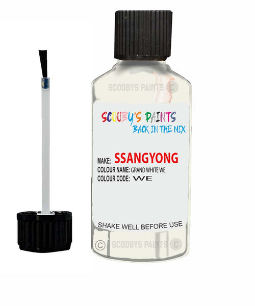 Ssangyong Actyon Sports Grand White Waa Touch Up Paint