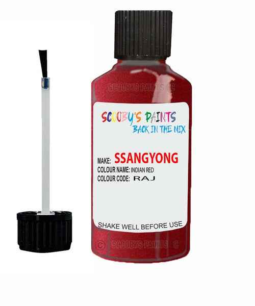 Ssangyong Korando Sports Indian Red Raj Touch Up Paint