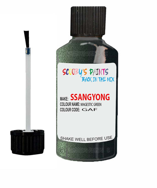 Ssangyong Chairman Magestic Green Gaf Touch Up Paint