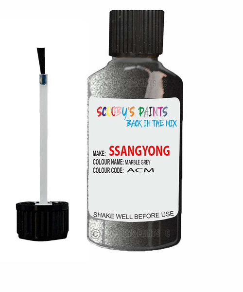 Ssangyong Actyon Sports Marble Grey Acm Touch Up Paint