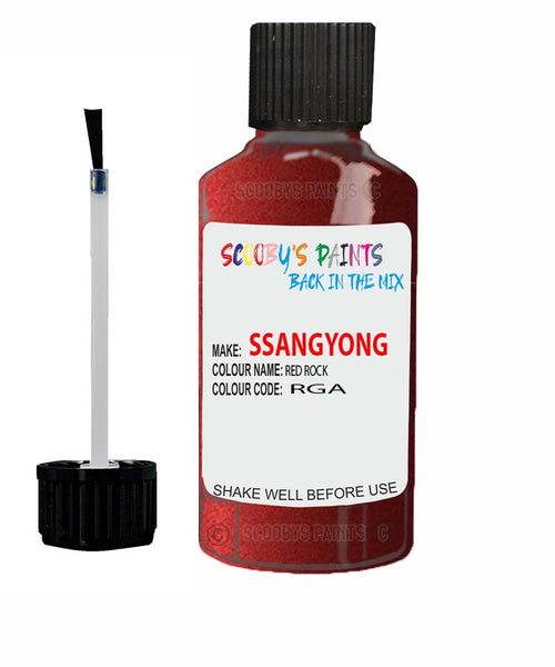 Ssangyong Musso Red Rock Rga Touch Up Paint