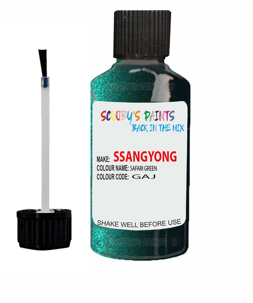 Ssangyong Musso Safari Green Gaj Touch Up Paint