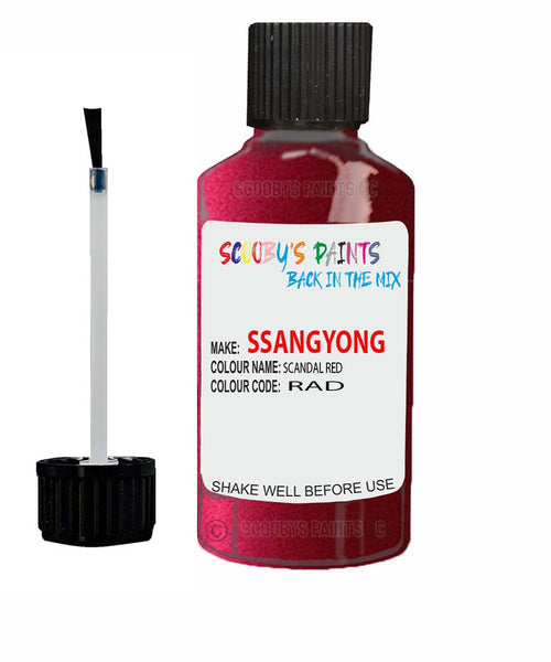 Ssangyong Actyon Scandal Red Rad Touch Up Paint