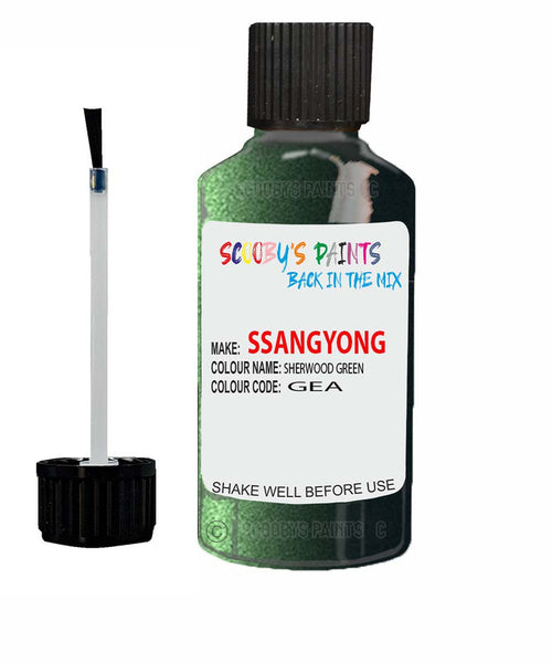 Ssangyong Musso Sherwood Green Ge Touch Up Paint