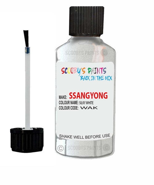 Ssangyong Rexton Silky White Wak Touch Up Paint