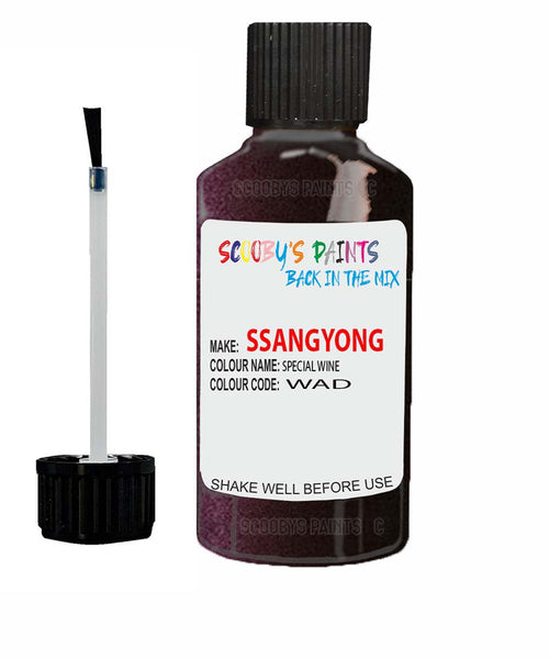 Ssangyong Rexton Special Wine Wad Touch Up Paint