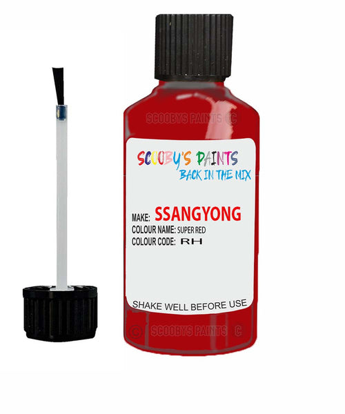 Ssangyong Musso Super Red Rh Touch Up Paint