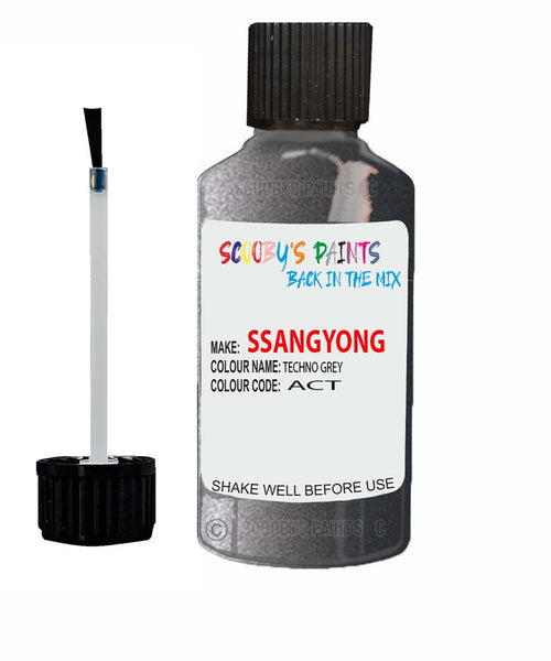 Ssangyong Tivoli Techno Grey Act Touch Up Paint