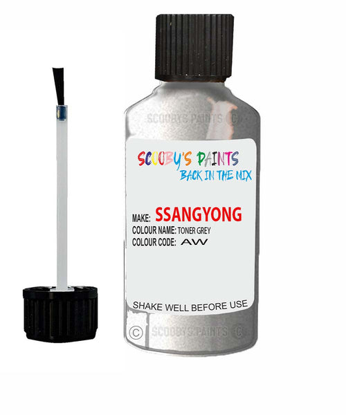 Ssangyong Musso Toner Grey Aw Touch Up Paint