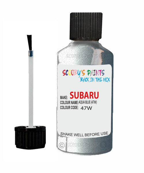 Subaru Impreza Aqua Blue 47W Car Touch Up Paint Scratch Repair