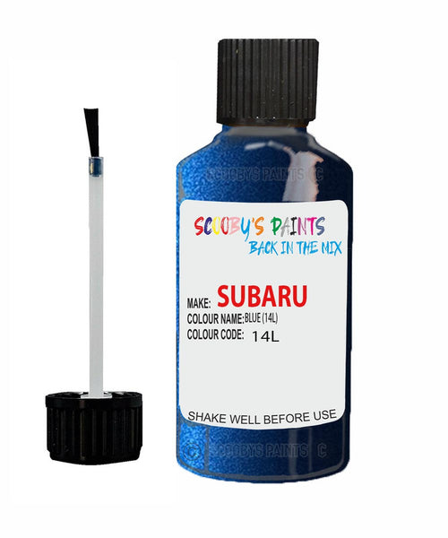 Subaru Legacy Blue 14L Car Touch Up Paint Scratch Repair 2001-2002
