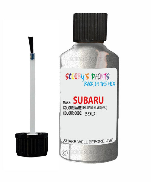 Subaru Legacy Brilliant Silver 39D Car Touch Up Paint Scratch Repair 2003-2008