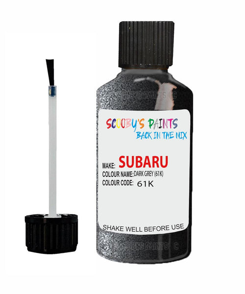 Subaru Impreza Dark Grey 61K Car Touch Up Paint Scratch Repair