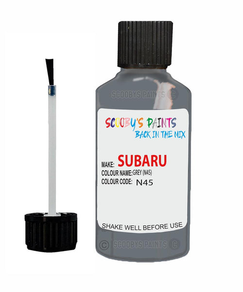 Subaru Impreza Grey N45 Car Touch Up Paint Scratch Repair