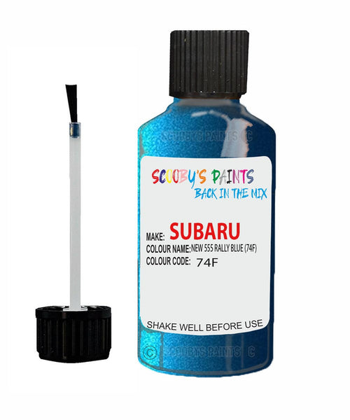 Subaru Impreza New 555 Rally Blue 74F Car Touch Up Paint Scratch Kit