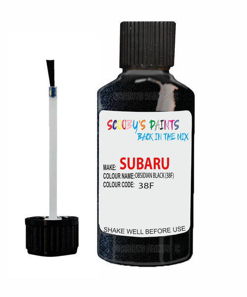 Subaru Impreza Obsidian Black 38F Car Touch Up Paint Scratch Repair