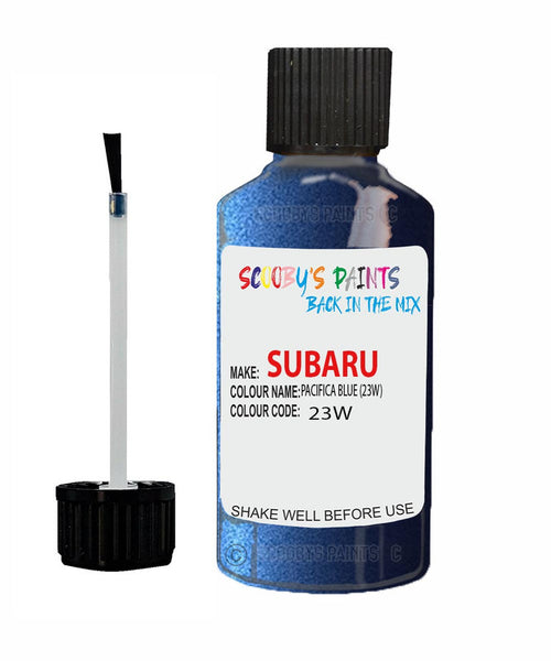 Subaru Impreza Pacifica Blue 23W Car Touch Up Paint Scratch Repair
