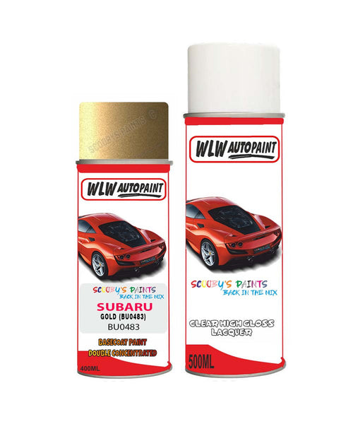 Subaru Impreza Gold Bu0483 Car Aerosol Spray Paint + Lacquer