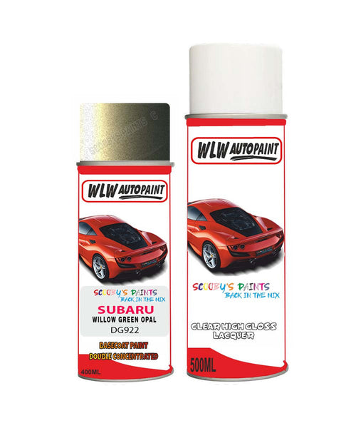 Subaru Outback Willow Green Opal Dg922 Car Aerosol Spray Paint With Lacquer 2005-2008