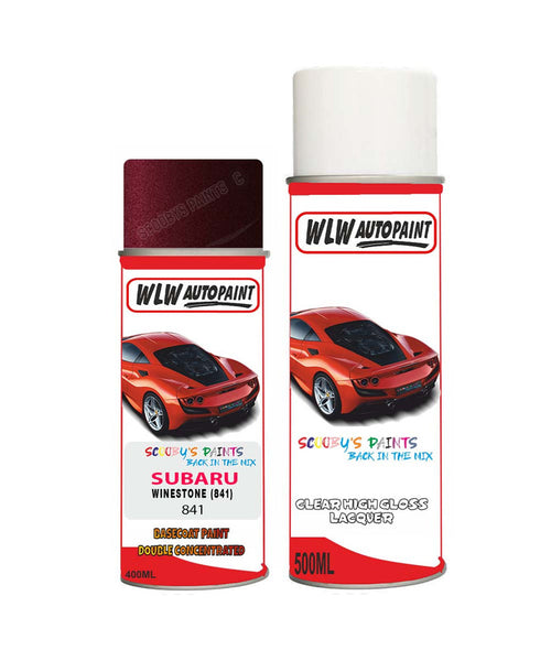 Subaru Outback Winestone 841 Car Aerosol Spray Paint With Lacquer 1999-2001