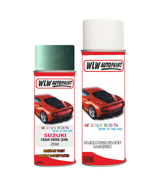 Suzuki Cultus Cedar Green Z0M Car Aerosol Spray Paint With Lacquer 1997-2002