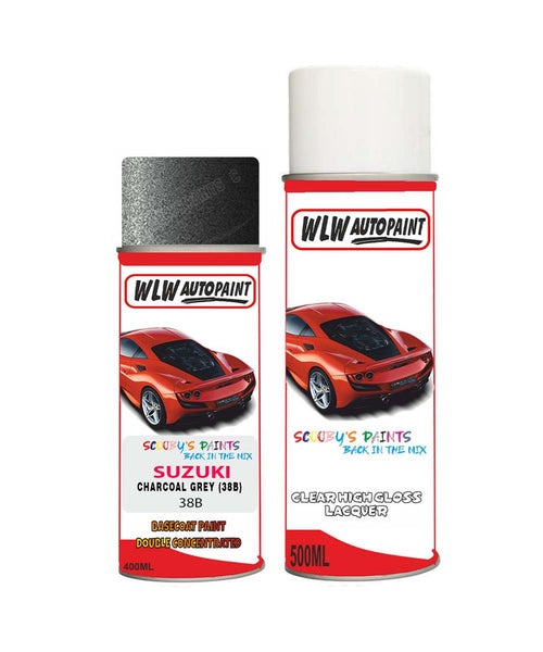 Suzuki Every Charcoal Grey 38B Car Aerosol Spray Paint With Lacquer 1990-1996