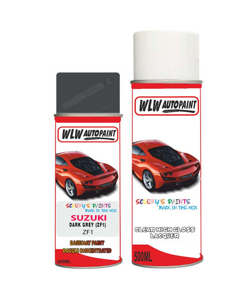 Suzuki Xl7 Dark Grey Zf1 Car Aerosol Spray Paint + Lacquer