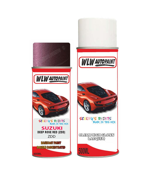 Suzuki Every Deep Rose Red Zdd Car Aerosol Spray Paint With Lacquer 2005-2007