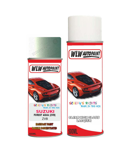 Suzuki Spacia Forest Aqua Zvb Car Aerosol Spray Paint With Lacquer 2013-2016